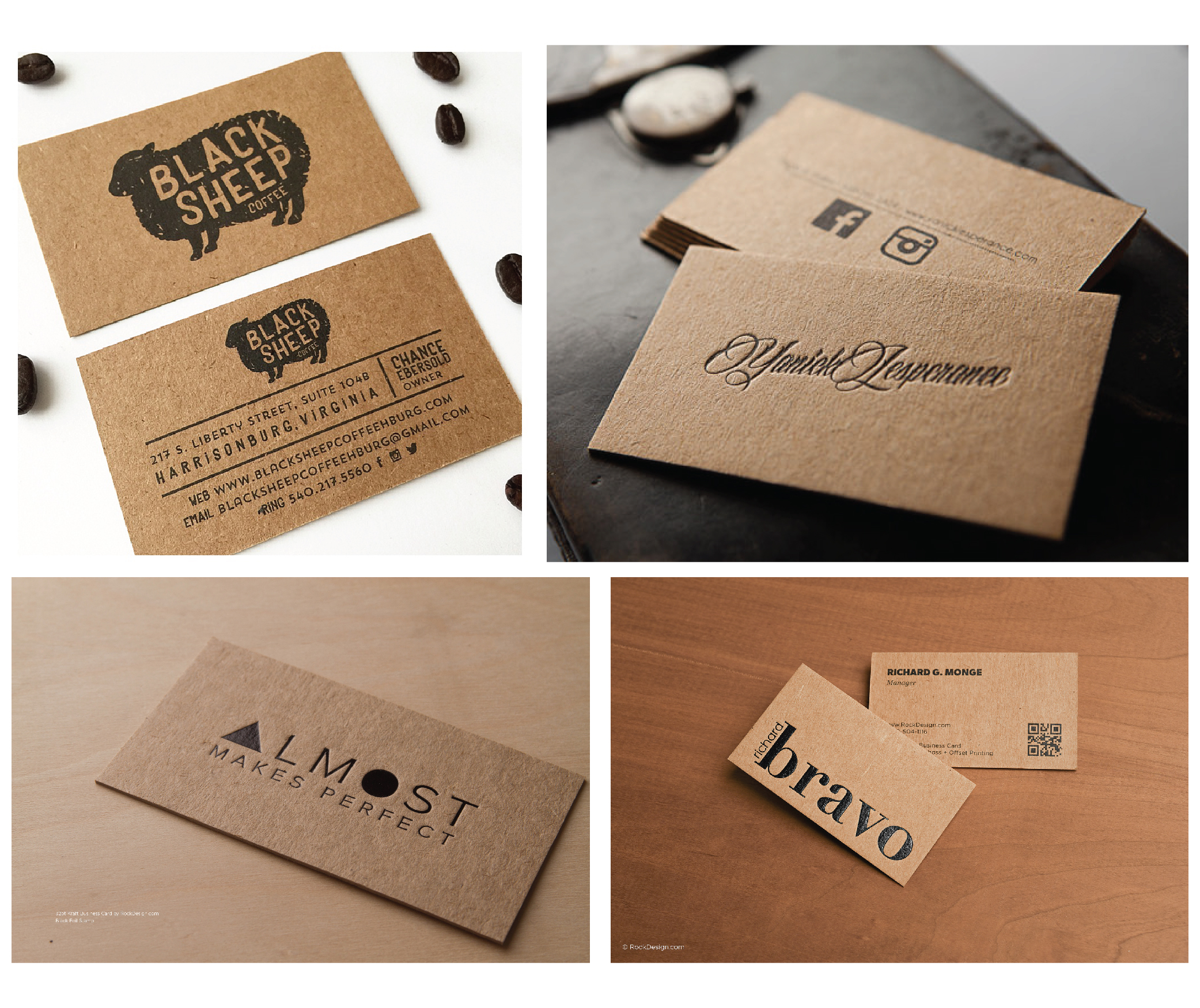Beautiful Photograph Of Business Cards Kraft Paper - Business ...